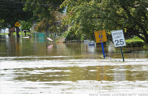 Tropical Storm Irene was the first to make direct contact on New Jersey in 108 years, flooding towns like Pompton Lakes.