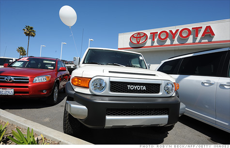 While auto sales were higher overall, Japanese carmakers' sales fell as they struggle to recover from the March earthquake that severely disrupted their supplies.