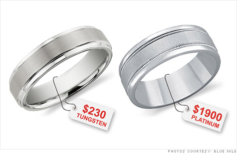 Tungsten cobalt steel replacing gold in wedding rings Sep 1 2011