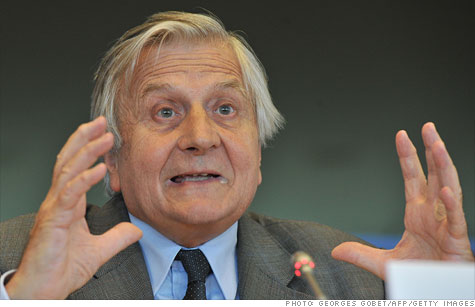 European Central Bank president Jean-Claude Trichet has urged EU policymakers to implement measures to contain the region's sovereign debt crisis.