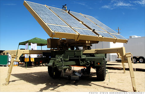 Most of the vendors trying to sell the Marines the latest in solar and fuel efficiency equipment are start-up firms.