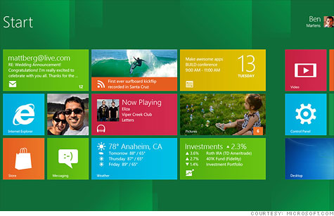 Windows 8 brings a tablet-like visual feel to Microsoft's decades-old operating system.