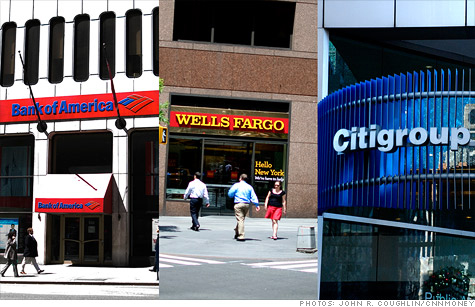 Bank of America, Wells Fargo, Citigroup