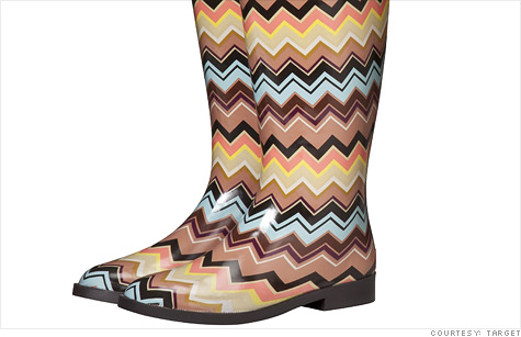 Tammy Lyn is selling rain boots from the Missoni for Target collection on eBay for $31,000