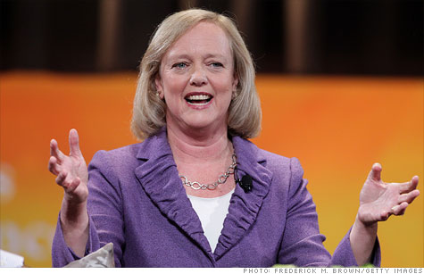 Meg Whitman, HP's new CEO, defended the tech giant's recent choices amid its leadership turmoil.