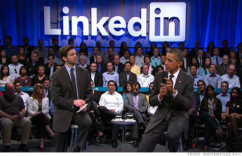 Obama touts jobs act in LinkedIn town hall