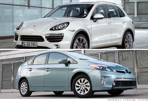 Porsche Cayenne S Hybrid and the Prius Plug-in