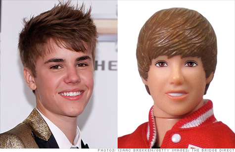 Justin Bieber's haircut has one dollmaker sitting on edge ahead of the holiday season.