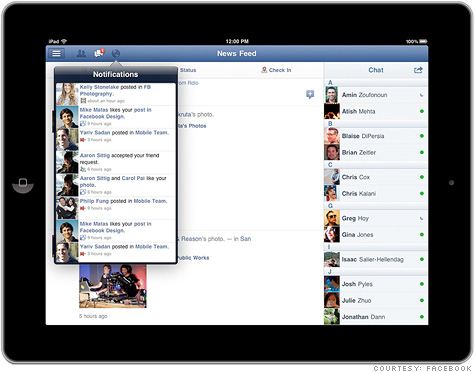 Facebook finally releases its iPad app