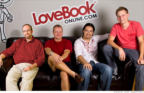 From Left to Right: LoveBook founders: Rob Patterson, John Baranowski, Chris Sonjeow and Kevin Zalewski