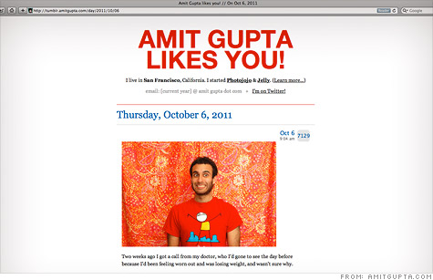 Amit Gupta used his Tumblr blog to tell friends about his leukemia diagnosis -- and his search for a matching bone-marrow donor.