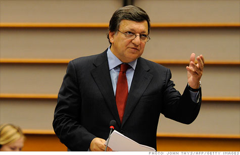 European Commission president Jose Manuel Barroso turns up the heat on Europe's sluggish response to its government debt and banking crisis.