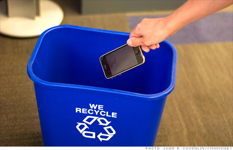 When you recycle cell phones, like the iPhone, at trade-in companies -- it's probably going to be resold, but it could also be broken down for its copper and gold.