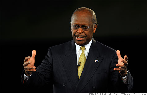 Herman Cain wants to scrap the tax code for his 9-9-9 plan but eventually move to a Fair Tax.