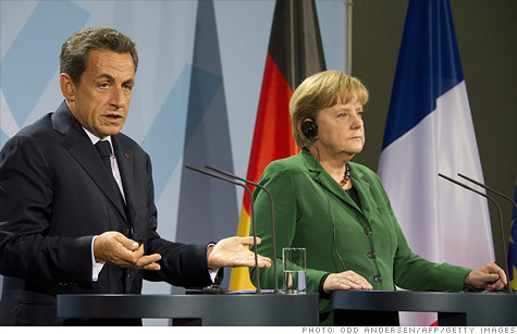 French President Nicolas Sarkozy and German Chancellor Angela Merkel are hammering out details on a plan solve Europe's debt crisis.