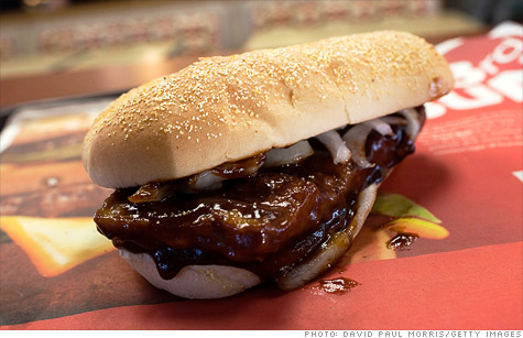 McDonald's McRib sandwich has returned -- but only until November 14th.