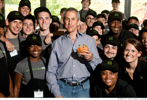 Meyer at a Connecticut Shake Shack: