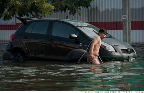 Catastrophic floods in Thailand have disrupted production for major automakers including Toyota, Honda and Nissan.