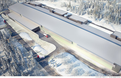 Facebook's artistic sketch of its planned data center in Sweden.