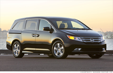 The Honda Odyssey is among the safest minvans that earned