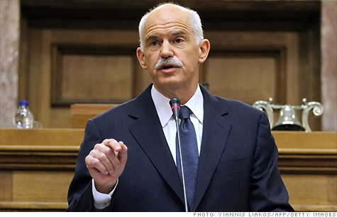 Greek Prime Minister George Papandreou called for a confidence vote and referendum on last week's EU deal that would slash Greece's debt by nearly one-third.