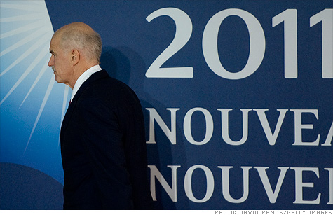Greek Prime Minister George Papandreou is under the gun to win a confidence vote and get the referendum passed.