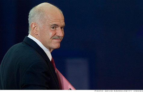 Greek Prime Minister George Papandreou said he's not stepping down, following an emergency cabinet meeting.