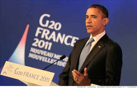 Upon his arrival in Cannes, President Obama said the highest priority for the G20 was to solve the European debt crisis.