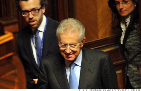 Traders in Italian bonds have plenty of news to chew on, like the expected appointment of former EU commissioner Mario Monti as the new prime minister.