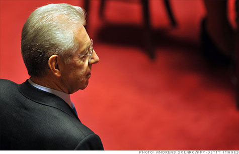 Mario Monti, an economist and former European Union commissioner, was tapped to lead much needed reforms as Prime Minister.