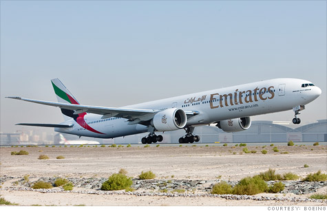 Boeing signs its biggest contract ever to supply Emirates Airlines with 50 aircraft, with options for another 20.