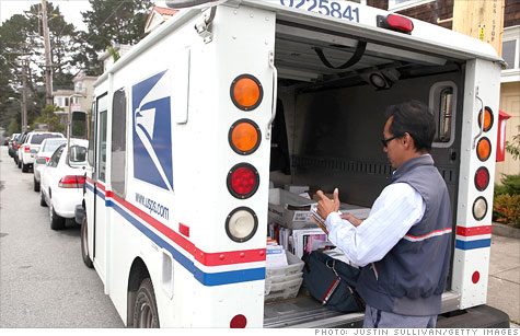 The U.S. Postal Service reported an annual loss of $5.1 billion on Tuesday, as declining mail volumes and mounting benefit costs take their toll on the agency.