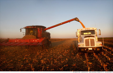 Historic increases in farmland prices seen in parts of the Midwest.