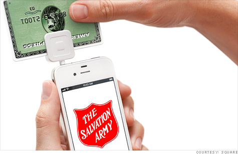 The Salvation Army, known for its red kettles, is teaming up with Square to digitize donations.