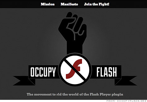 Occupy Flash' seeks to rid world of Adobe Flash - Nov. 17, 2011