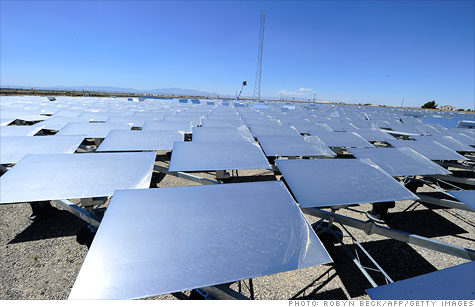 Oil-rich Saudi Arabia is expected to begin a major push into solar power in an effort to conserve its most important export. The technology could include solar plants like this one in the California desert, which uses mirrors to concentrate the sun's rays.