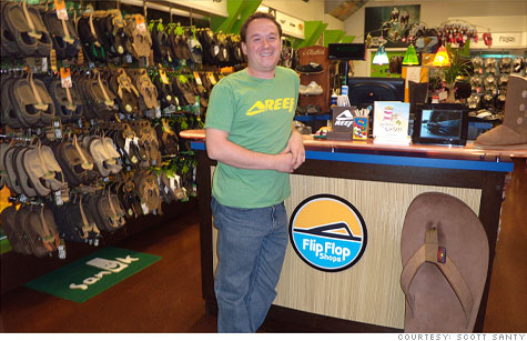 Scott Santy in his flip flop store has made a cool million.