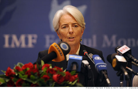 The International Monetary Fund, led by Christine Lagarde, has loosened restrictions on lending to try and ameloriate the debt crisis.