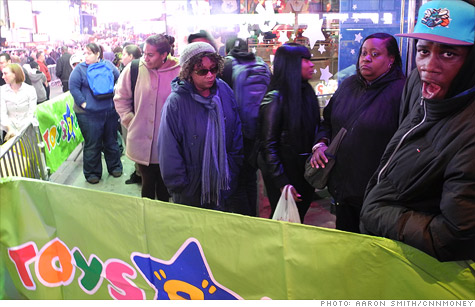Toys 'R' Us broke with tradition and opened its doors at 9 p.m. Thursday compared to its customary opening at midnight at the end of Thanksgiving, three hours ahead of what is otherwise known as Black Friday.