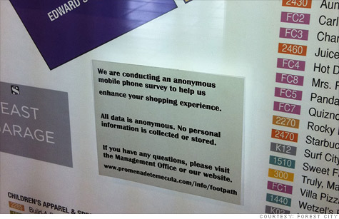 Two US. malls were planning to track shoppers' movements by following their cell phone signals, but they have since suspended the program, due to privacy concerns raised by Senator Charles Schumer.