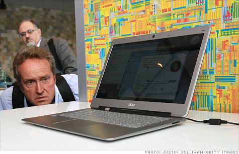 This Acer Ultrabook was on display at Intel's 2011 Intel Developer Forum in September.