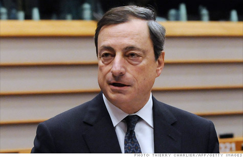 Mario Draghi, president of the European Central Bank, said that fiscal union is essential to the eurozone, though he was vague on the details.
