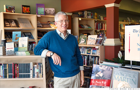Bill Skees, 56, of Glen Rock, N.J. ditched his job as an IT development director for a new career as a bookstore owner.
