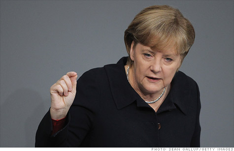 German Chancellor Angela Merkel affirmed her call for a  fiscal union to help resolve Europe's debt crisis.
