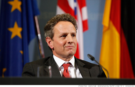 Treasury Secretary Timothy Geithner says he's encouraged by the efforts being made by European leaders to fix their debt crisis.