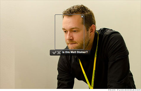 Google's new Find My Face technology will suggest nametags for photos' subjects in Google+.