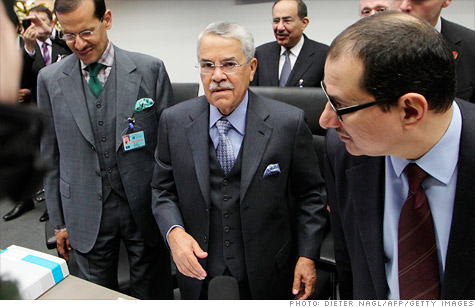 Saudi oil minister Ali Naimi at the semi-annual OPEC meeting in Vienna where the cartel agreed to officially increase its output for the first time in years.