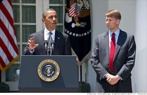 Republicans have blocked Obama's nomination of Richard Cordray for consumer bureau director.