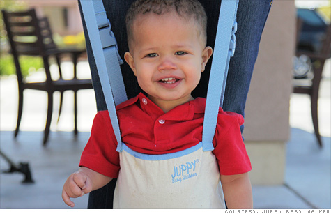 Jeffrey Nash designed the Juppy Baby Walker, which lets adults teach babies how to walk without bending over.