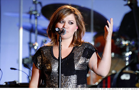 One day after she announced her support for Republican presidential candidate Ron Paul on Twitter, sales of pop singer Kelly Clarkson's most recent album were surging Friday on Amazon.com.